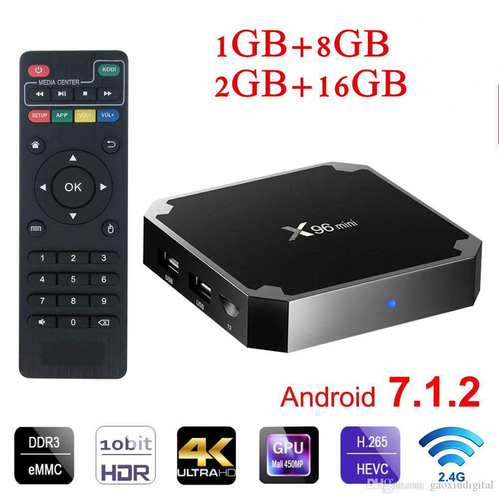 X 96 mini Android 7.1 Smart TV BOX 4K WiFi Media player X96mini