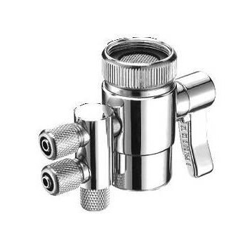 """Faucet Adapter Diverter Valve Counter Top Water Filter Connect to 1//4/"""" Tubing"""