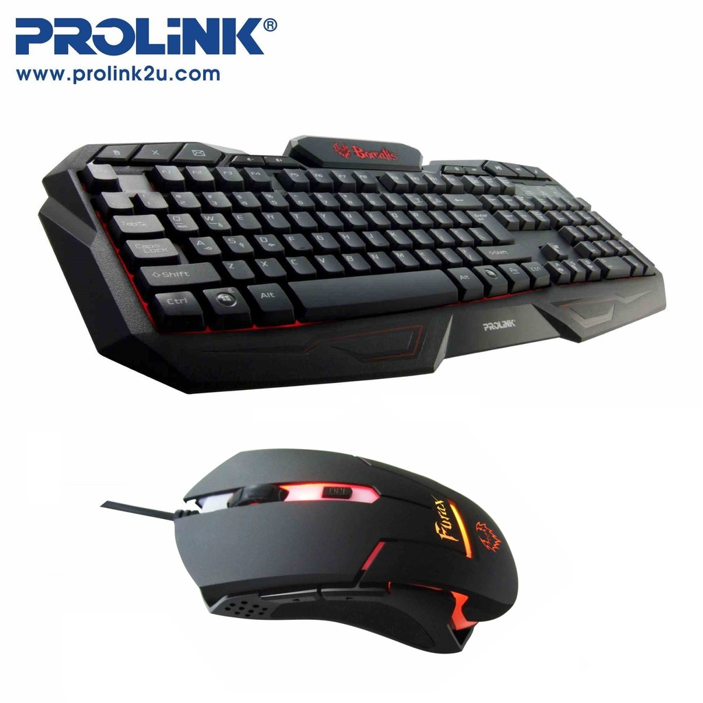 Prolink Illuminated Multimedia Gaming Keyboard + Gaming Mouse [Value Pack]