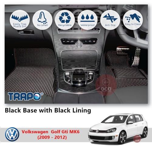 TRAPO Customize Car Floor Mat for Volkswagen Golf Gti MK6 (2009 - 2012)