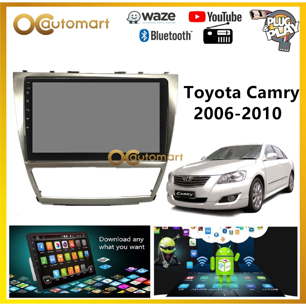 """Toyota Camry 2006-2010 Big Screen 10"""" Plug and Play OEM Android Player Car Stereo With WIFI Video Player/TouchScreen"""