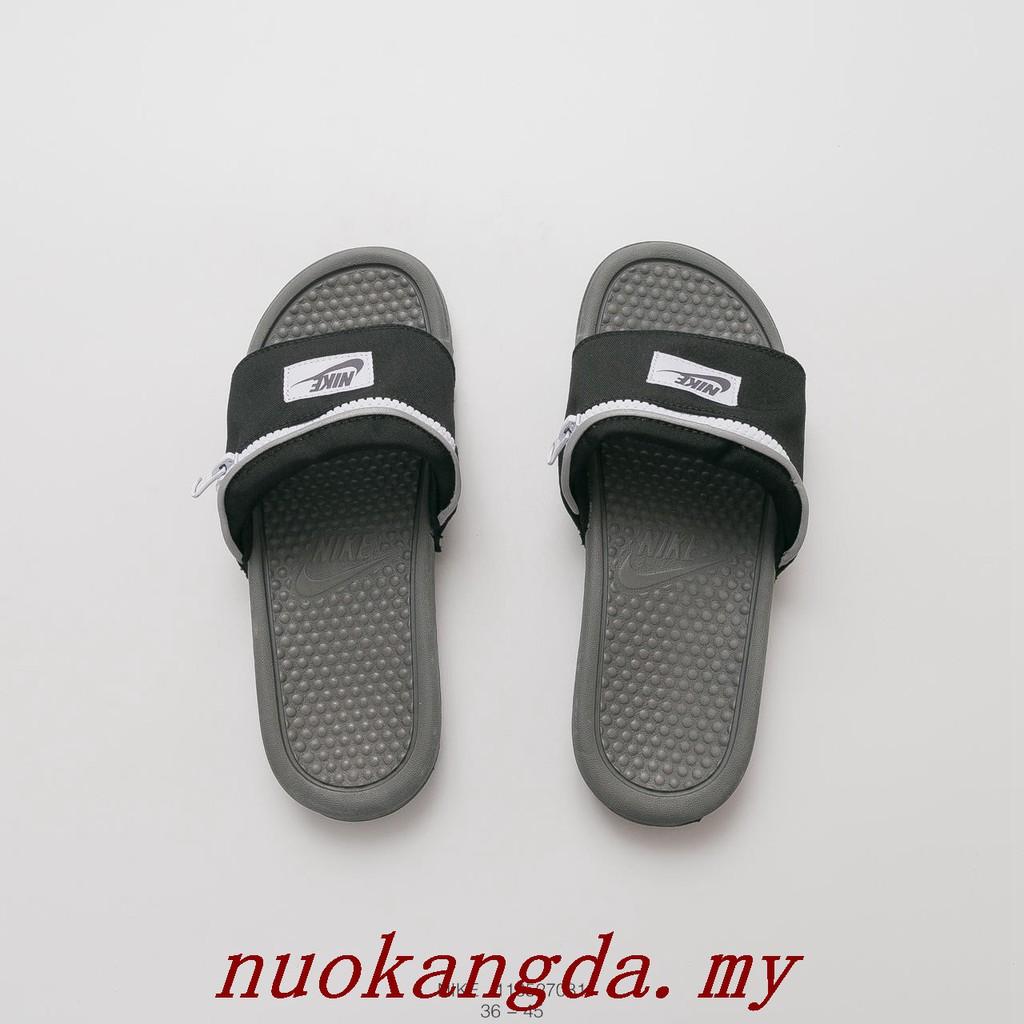 newest c4e64 8d56e Brand New Nike BENASSI JDI Chain wallet pocket summer slippers sandal  AO1037 001