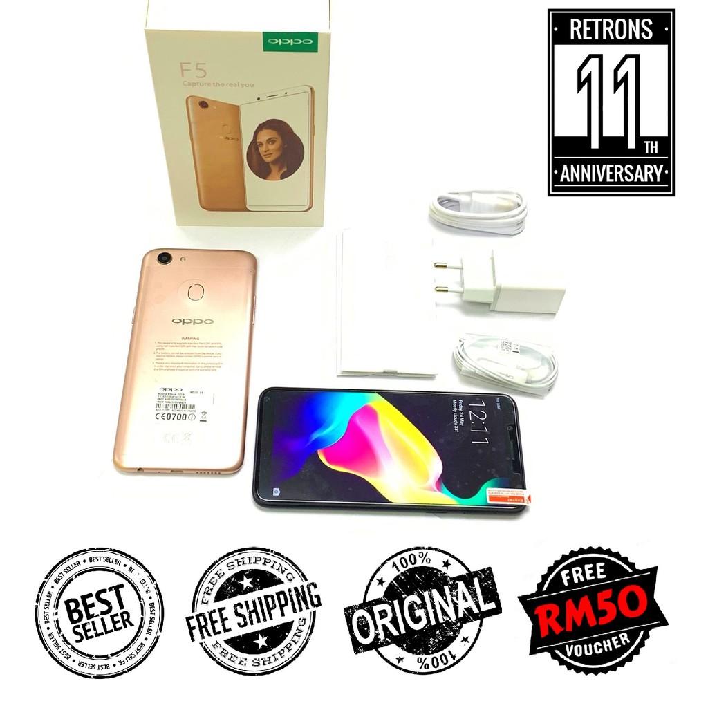 "[11:11] 🇲🇾 Ori Oppo F5 32GB | 64GB + 4GB RAM Dual Sim ""Face Unlock"" ''Gesture Navigation"" [1 Month Warranty]"