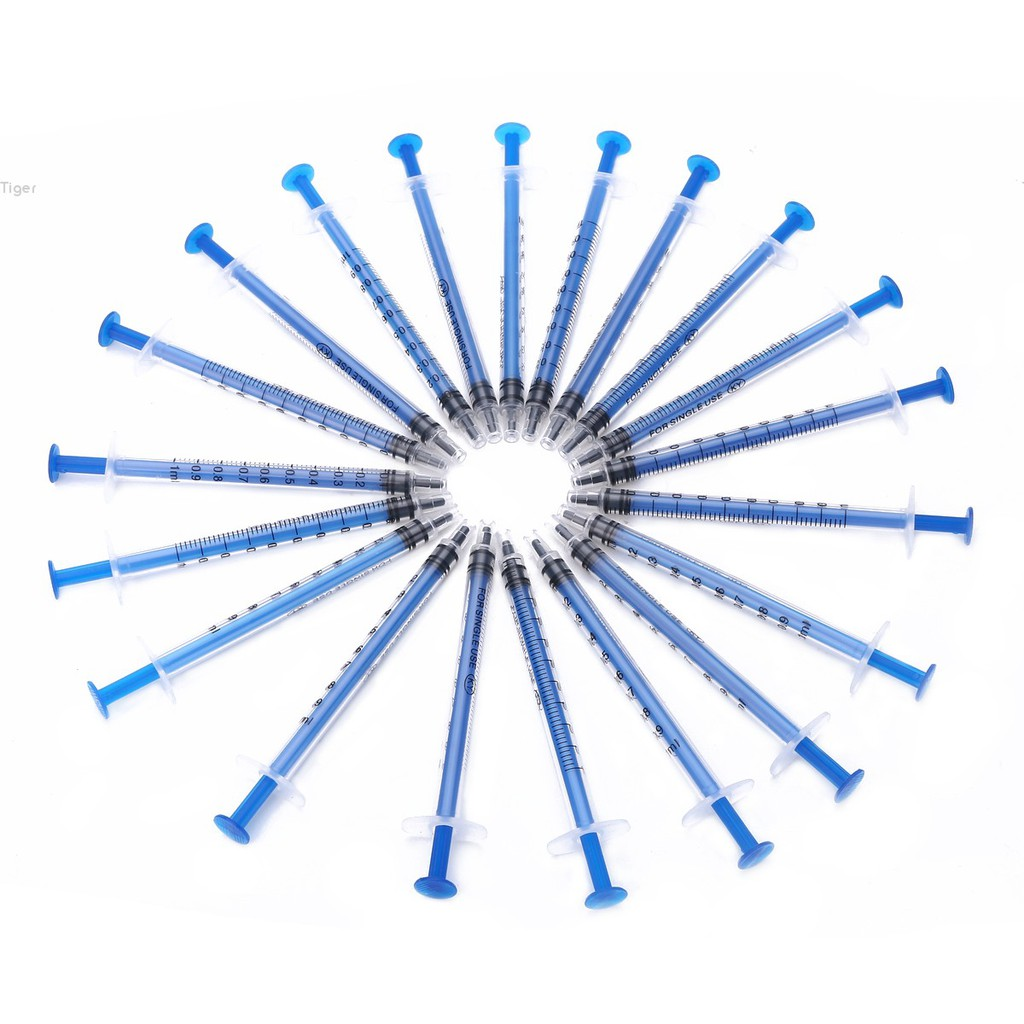 Tiger✨20pcs 1ml Plastic Disposable Injector Syringe For Refilling Measuring  Nutrient