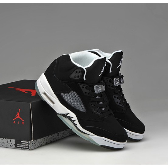 low priced 3a1fb 371f4 Nike Air Jordan 5 Black/white high top breathable Men's basketball shoes
