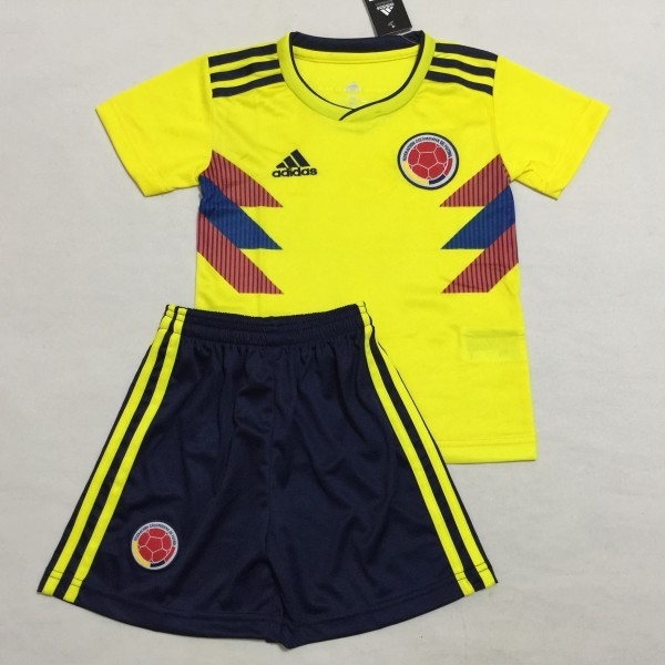 reputable site c1c29 212ca 2018 World Cup Colombia National Team Home Away Kids Soccer Jersey Fashion  Kit