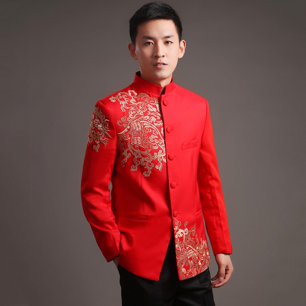 4970bbc71 Men Traditional Samfu Bridegroom Traditional Costumes Chinese New Year Wear  | Shopee Malaysia