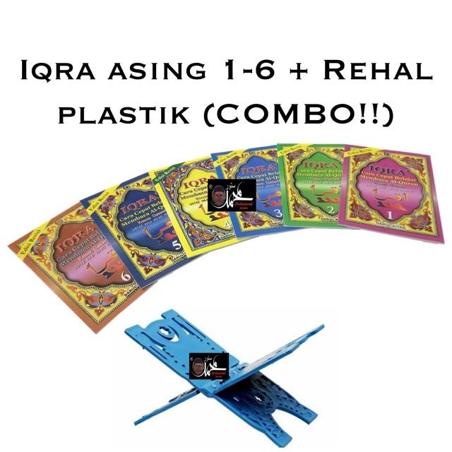 Iqra asing 1-6 + Rehal plastik (COMBO!!)