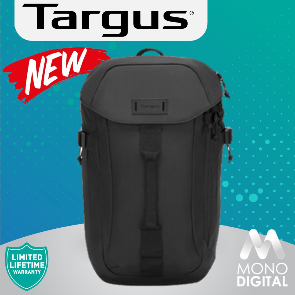 Targus 15'6 Sol-Life Notebook/ Laptop Backpack Lightweight and Ergonomic Design with Water Repellent (Black/Olive Green)