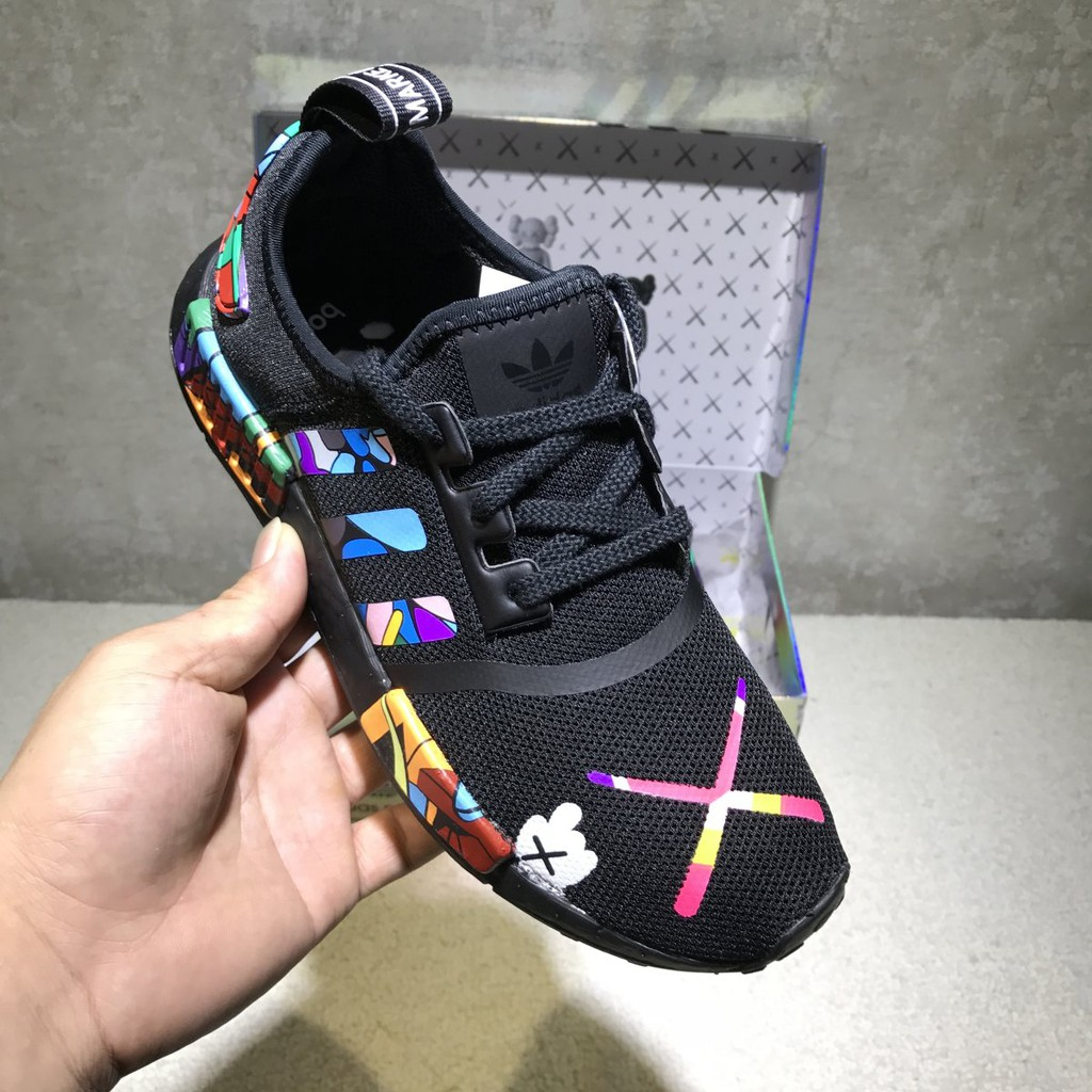 newest collection 6fa9d 30d92 Adidas NMD R1 Yezzy Boost Kaws Cartoon Running shoes men/women sneakers  S31512