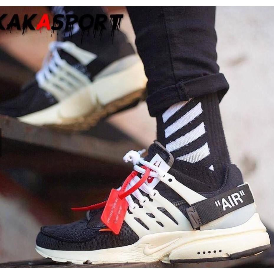 【Ready Stock】100%Original NIKE X OFF WHITE AIR PRESTO THE TEN Running Shoes