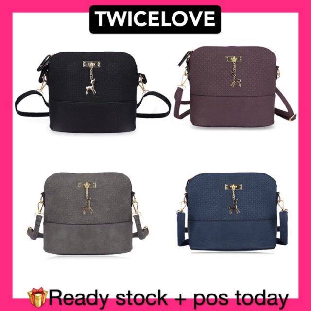 cbc98e3456 Premium Quality Deer Pendant Crossbody Sling Bag