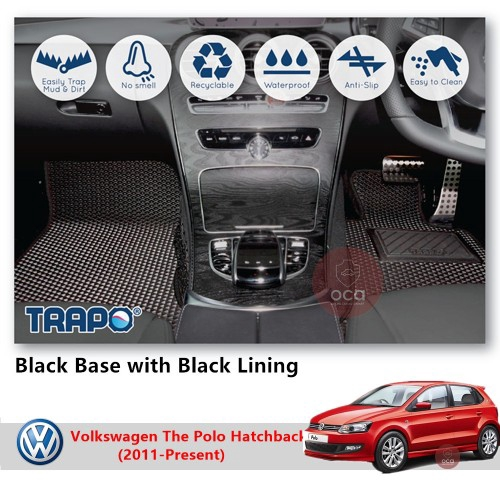 TRAPO Customize Car Floor Mat for Volkswagen The Polo Hatchback (2011-Present)
