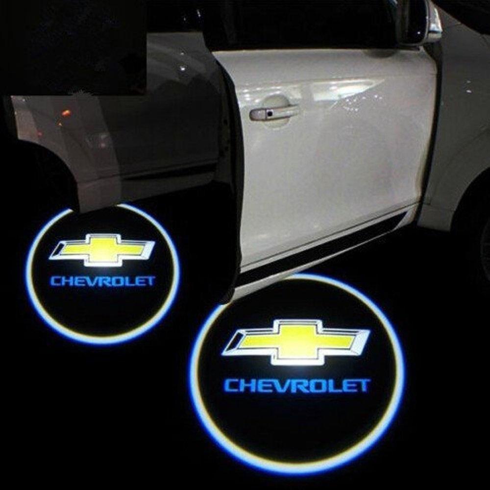 2x Chevrolet Lighting Logo Projector Laser Led Car Door Logo Light