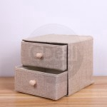 GDeal 2 Layers Household Storage Box Cotton And Linen Fabric Storages Drawer Clothes Organizer