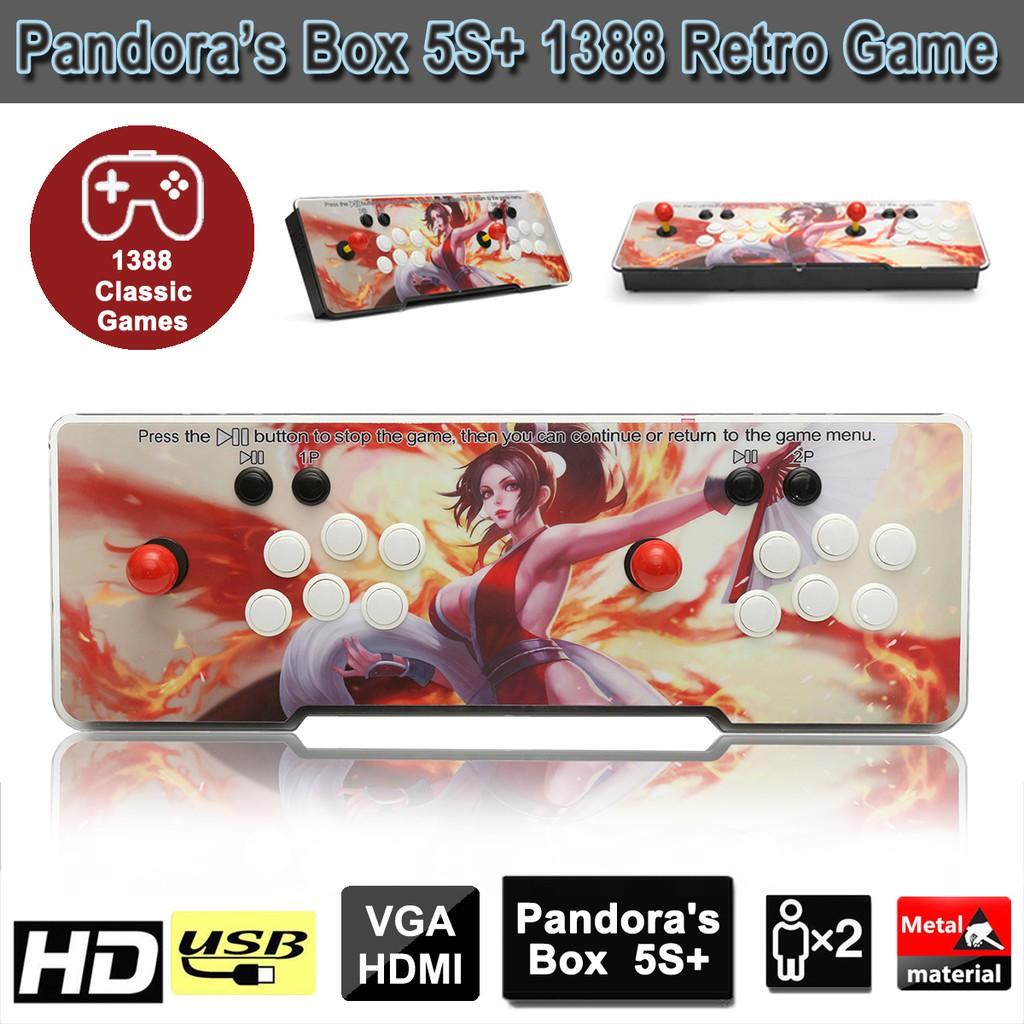 1388 In 1 Pandora's Box 5S Retro Video Games Arcade Console Double Stick