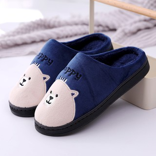 Color : Blue, Size : 38//39 Indoor Cozy Warm Slippers Cotton Womens Thick Foundation Winter Warm Slip Indoor Fur Couples Waterproof Autumn Winter