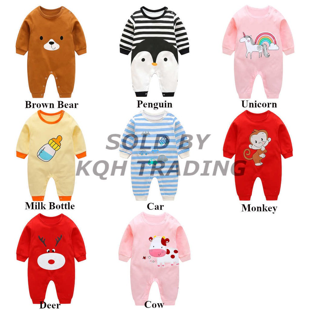f8f06f747 Ready Stock 🇲🇾 0-18M Premium Quality Newborn Baby Clothing Romper Boy Girl