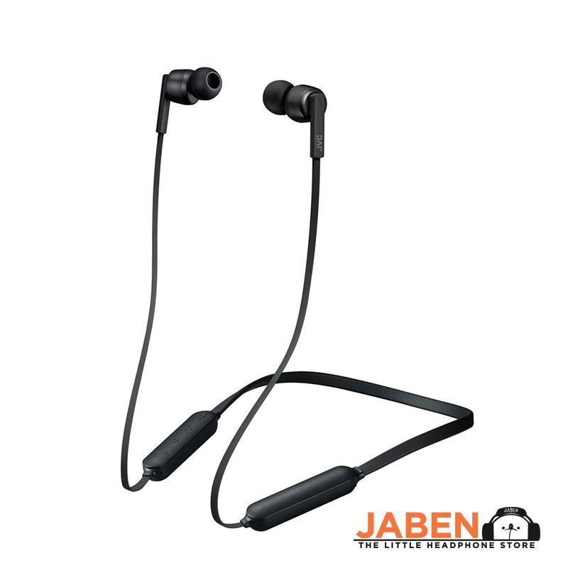 JVC HA-FX65BN Soft Neckband Active Noise Cancelling IPX4 Sweatproof Bluetooth in-Ear Earphones