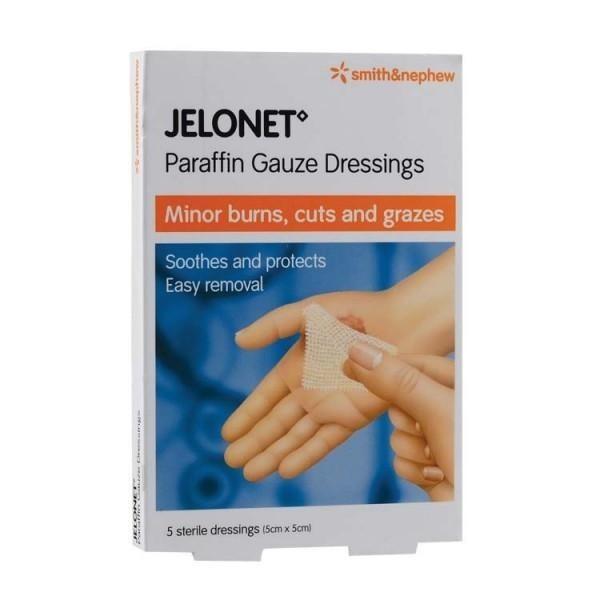 Jelonet Paraffin Gauze Dressings 5cm X 5cm 5s