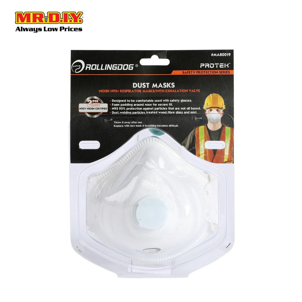 Mask Dust Valve Exhalation With N95 2pcs Rollingdog