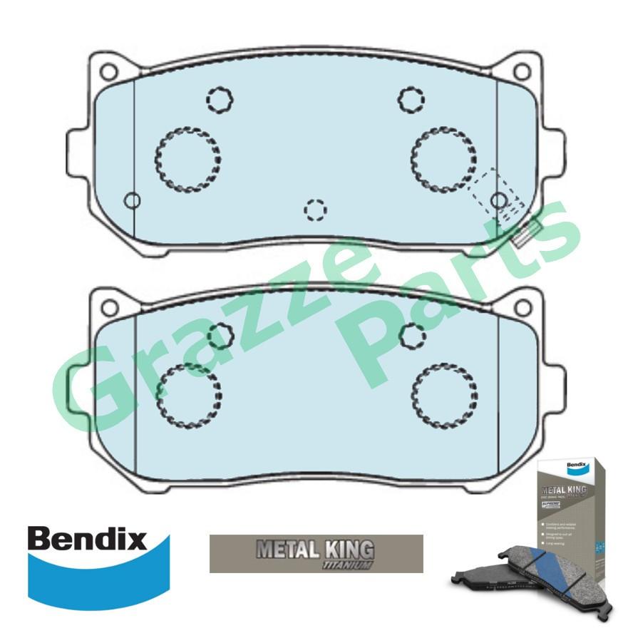 Bendix Metal King Titanium Disc Brake Pad Rear DB1466 - Kia Caren Sephia Spectra