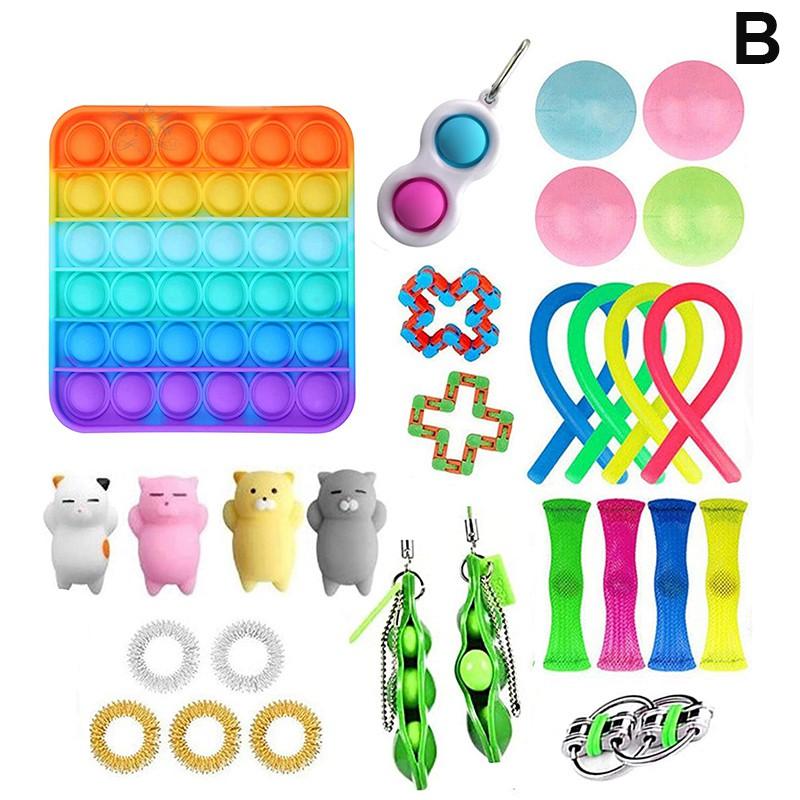 Kids Adults Hand Toy Details about  /12 Pcs Sensory Fidget Toys Set Anti-Stress Stress Relief