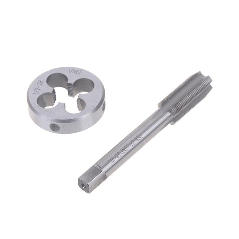 1pc HSS Machine 1-20 UNEF Plug Tap and 1pc 1-20 UNEF Die Threading Tool