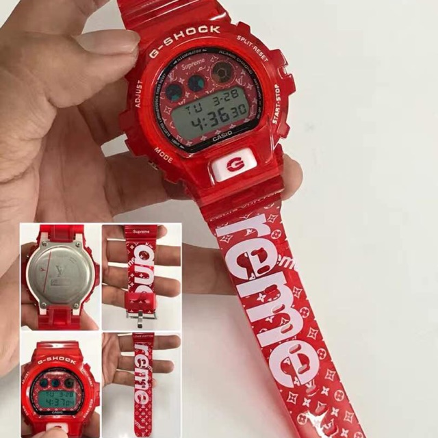 LV X SUPREME Casio G Shock Red Edition Digital Function For Man