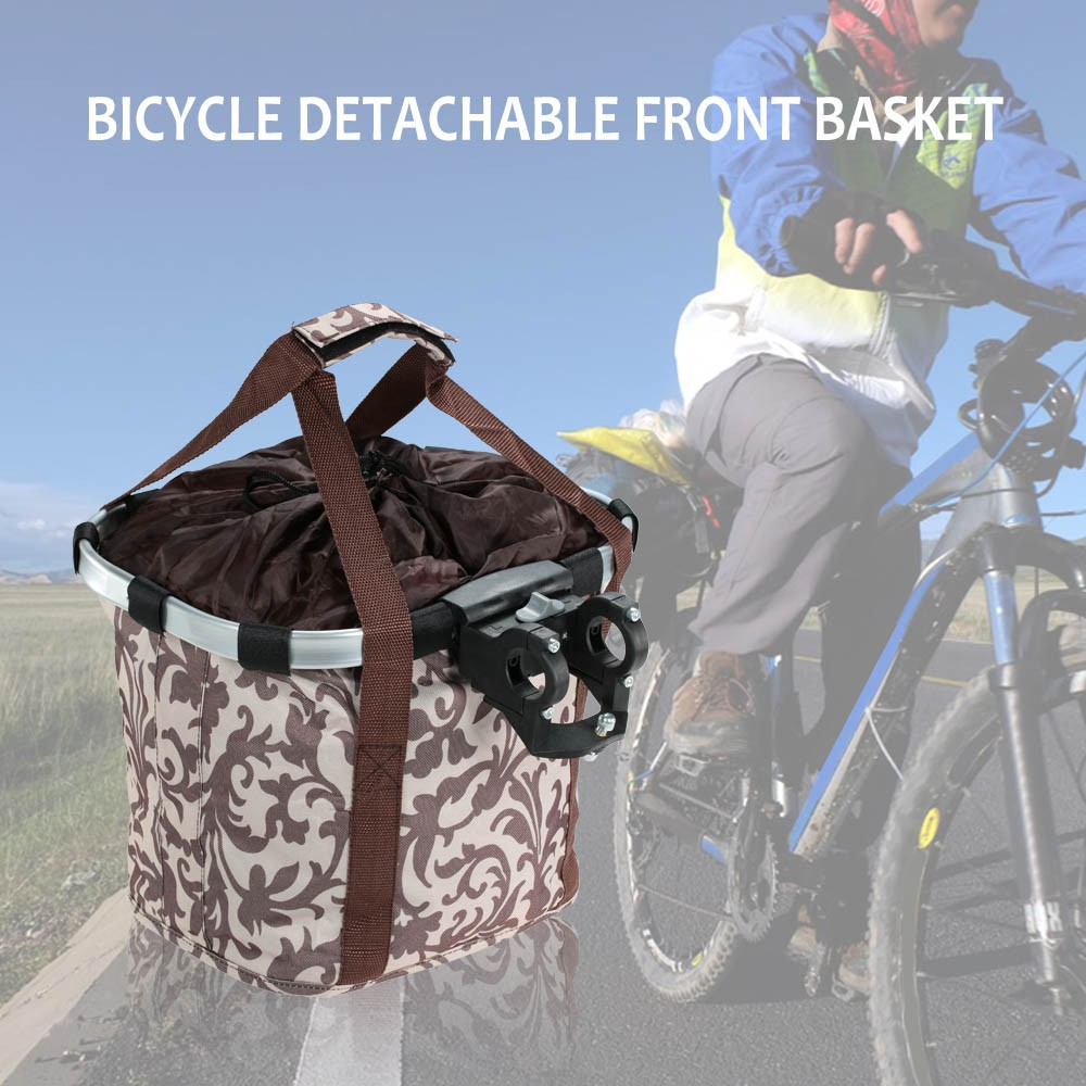 Waterproof Bicycle Folding Bike Basket Carrier Front Handlebar Bags Rockbros A 008 Pannier Bag 3 4l Shopee Malaysia