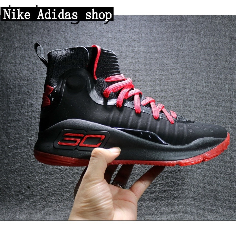 af22fa1e Under Armour Stephen Curry 4 black red Basketball shoes | Shopee Malaysia