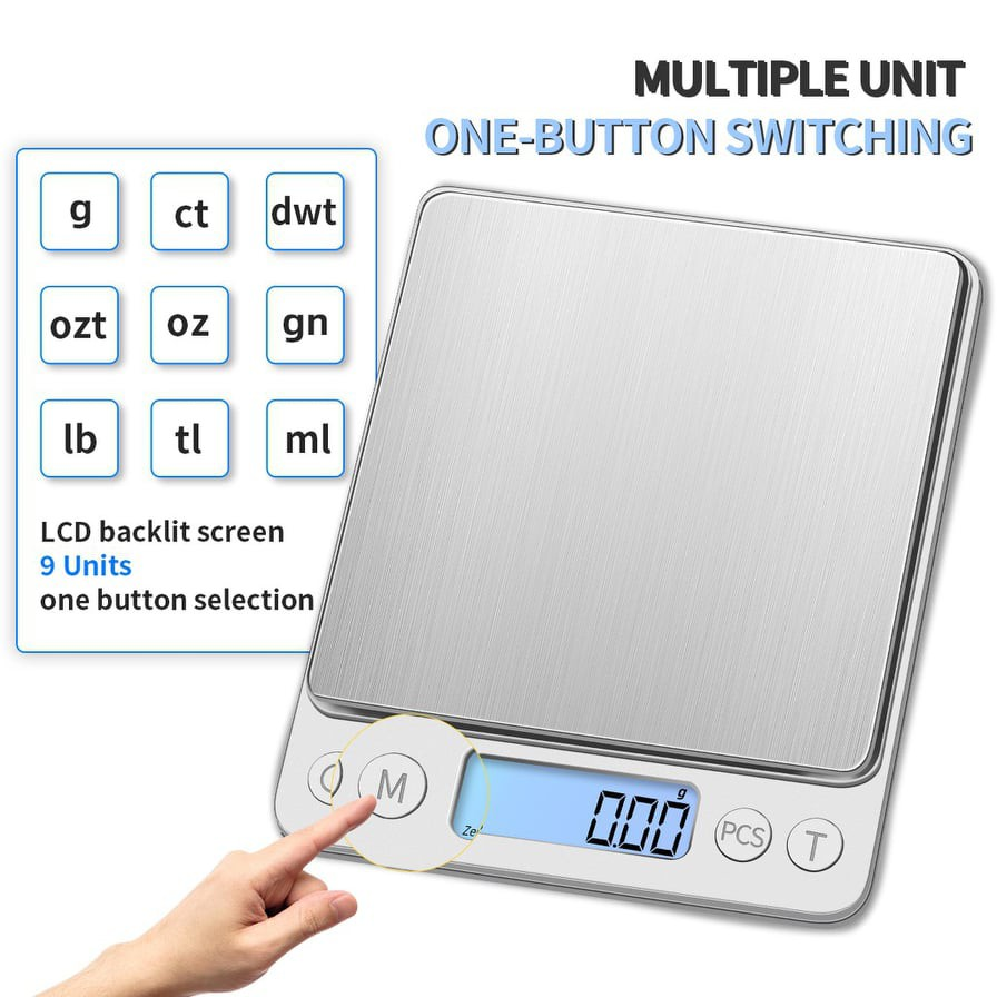 Digital LCD Scale Electronic Kitchen Scale Food Weighing Digital Scale ( 2000G / 0.1g )