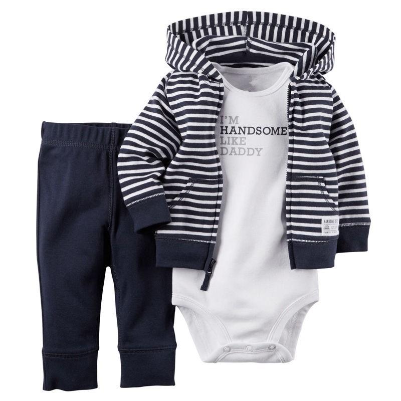 f401dccaaeb4d Carters Newborn 6 9 12 18 Months Cardigan Pants Set Baby Boy Outfit Clothes