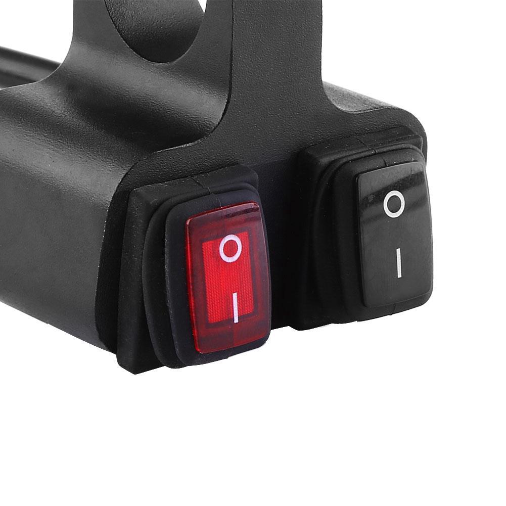 12V 16A Motorbike Handlebar HeadLight Switch CNC Aluminum Motorcycle Motorbike Handlebar HeadLight Spotlight Dual On Off Switch
