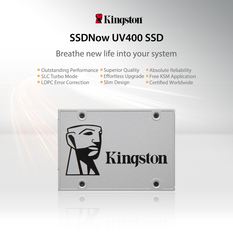Kingston SSDNow UV400 SATA 3 SSD - 120GB (Speed up 550MB/sec)