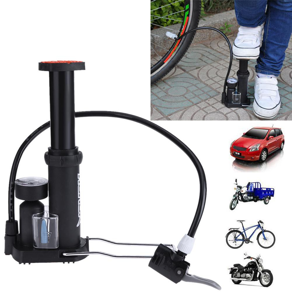 Mini Bicycle Pump Portable Hand Pressure Air Tire Inflator Mountain Bike WA