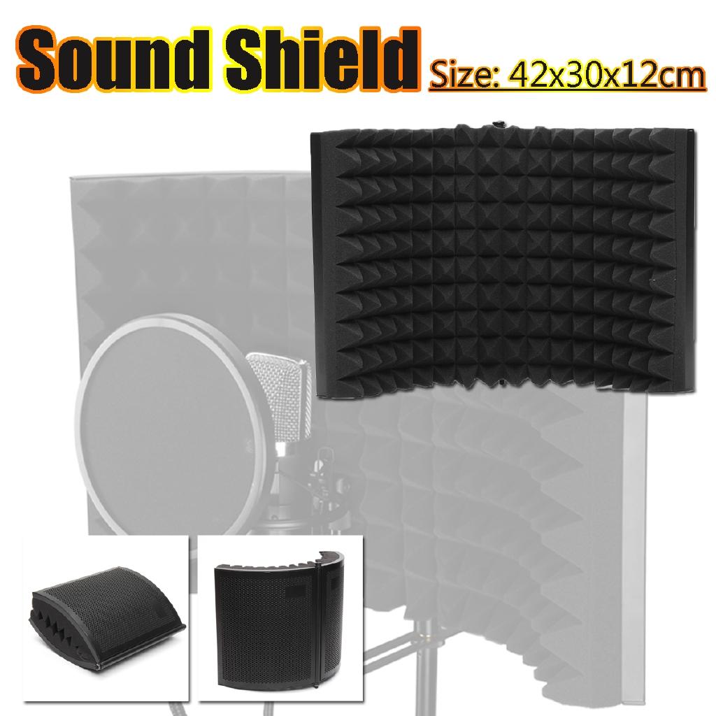 Microphone Isolation Shield Vocal Recording Acoustic Panel EVA Foam