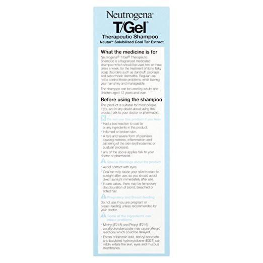Neutrogena T/Gel Therapeutic Shampoo for Psoriasis, Itching Scalp&Dandruff  125ml