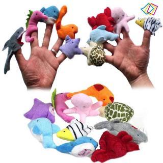 8pcs Marine Life Sea Animal Set Shark Kids Gift Dolphin Turtle Crab Model Toy FY