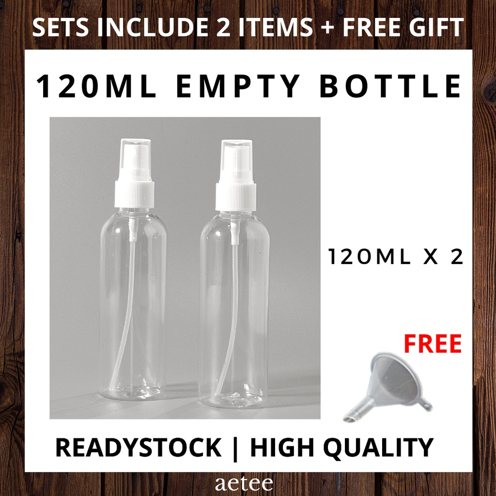 120ml Spray Bottle Sets of 2 with FREE GIFTS | Fine Mist Spray Bottle [aetee]