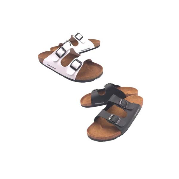 BK รองเท้าแตะแบบสวม แนวแฟชั่น BK สีดำ/สีขาว/สีน้ำตาล