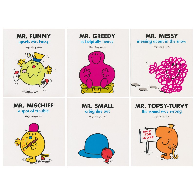 Mr  Men Set 1 大开本 Mr  Qi 6 book set EQ management English original  children's pi