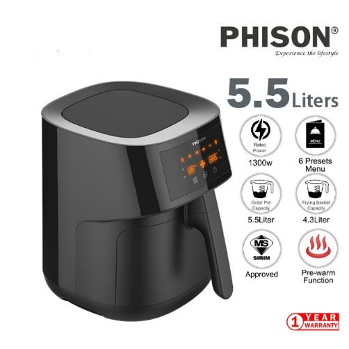 Phison PAF3550 Digital Air Fryer 5.5L