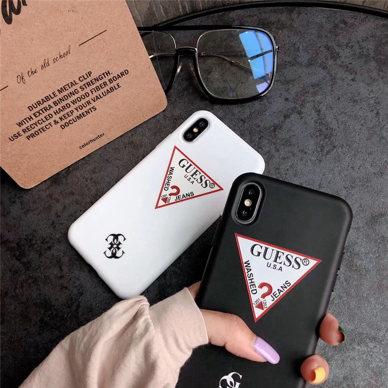 Fashion Trend GUESS Soft TPU Phone Case iPhone 7 8 Plus X XS MAX XR Phone Case 6 6S Plus