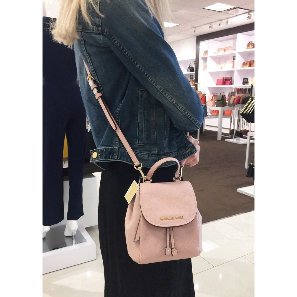 671ea65f99ca MICHAEL KORS RILEY SMALL FLAP PACK CROSSBODY LEATHER BAG PASTEL PINK |  Shopee Malaysia