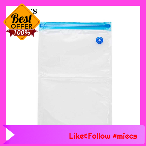 5pcs/set Vacuum Storage Bags Transparent Space Saver Seal Bag for Food Comforters Pillows (22 * 34) (3)