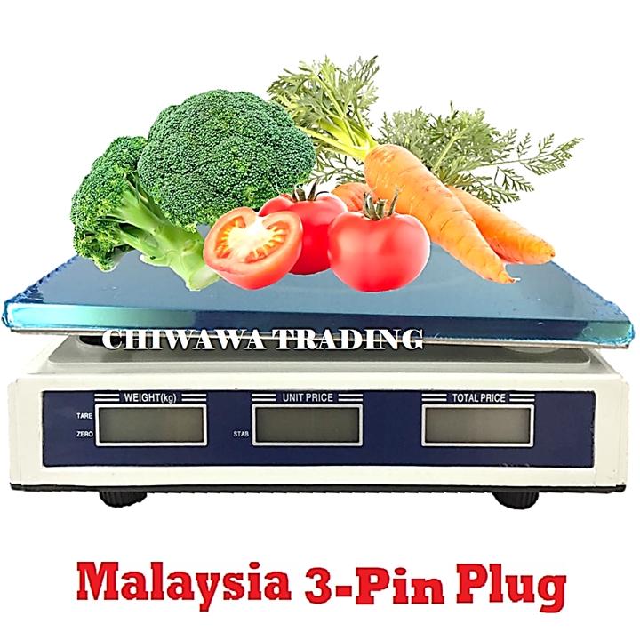 30kg Rechargeable Commercial Electronic Computing Weighing Price Platform Kitchen Digital Scale Timbang Berat Penimbang