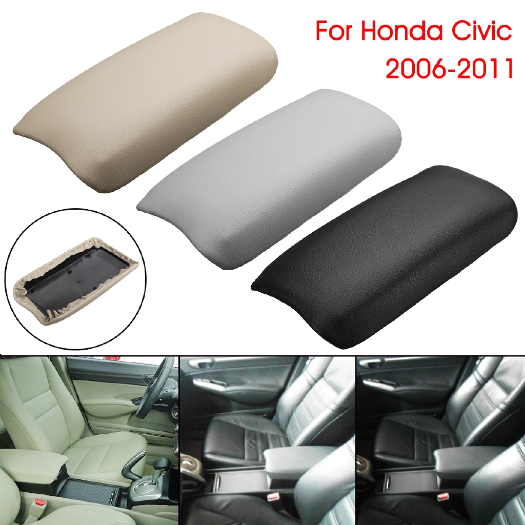 US-Stock Car Truck Center Console Armrest Cover Grey for 2006-2011 Honda Civic