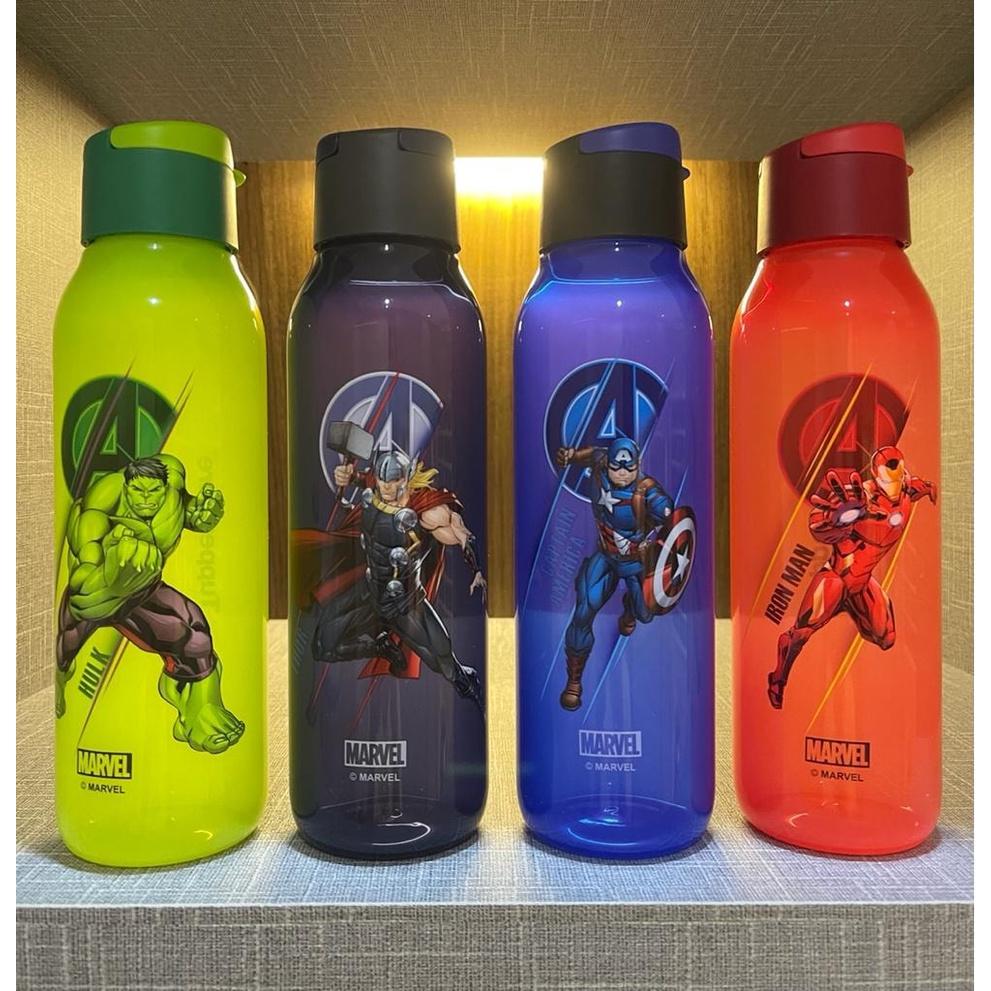 (10% Cash back + Voucher) Tupperware Avengers FlipTop Eco Bottle 750ml (botol air avenger) Iron Man/ Captain America etc