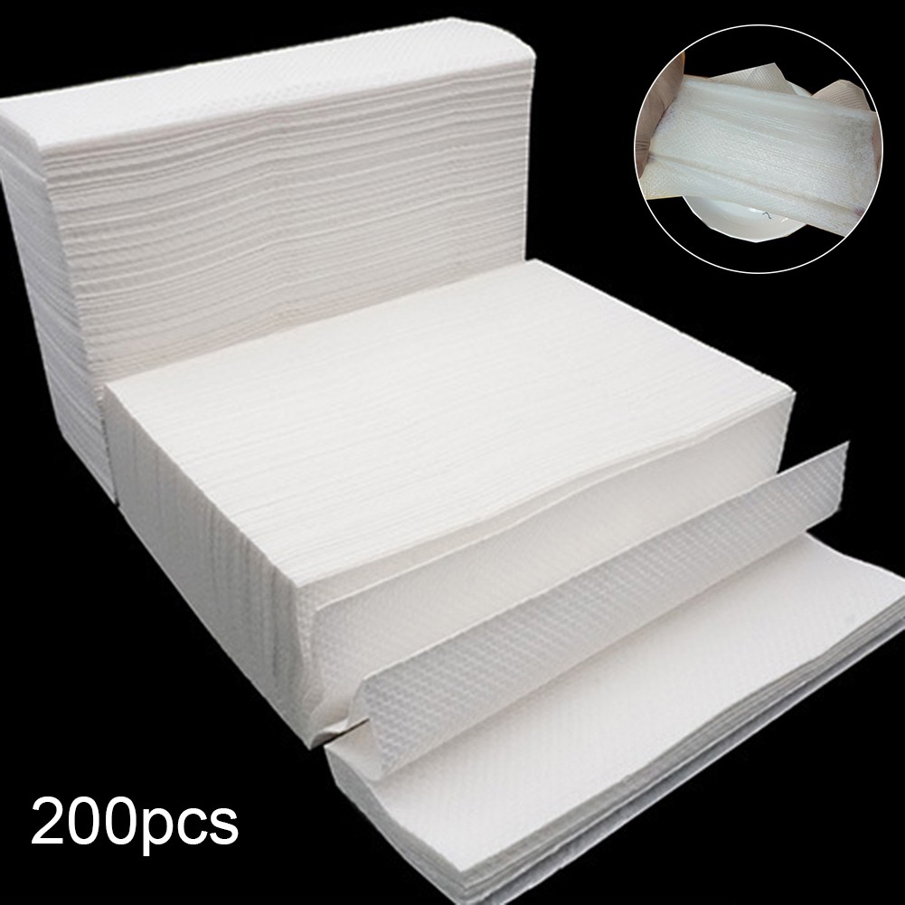 WX_200 Sheets Disposable Natural Wood Pulp Thickened Napkin Paper Toilet Tissues